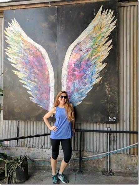 LA Marathon colette miller wings