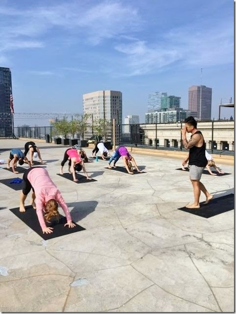 Los Angeles Marathon pre race yoga city