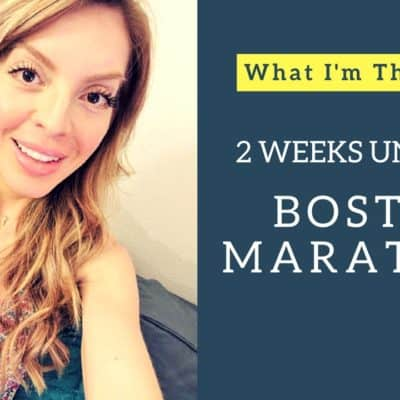 2 Weeks Until the Boston Marathon–My thoughts VLOG