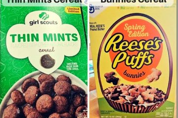 Thin Mints Cereal vs. Reese's Puffs Bunnies Cereal