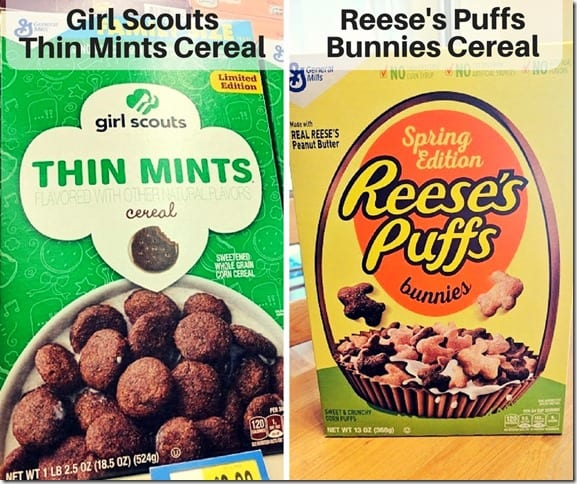Thin Mints cereal vs reeses puffs bunnies review