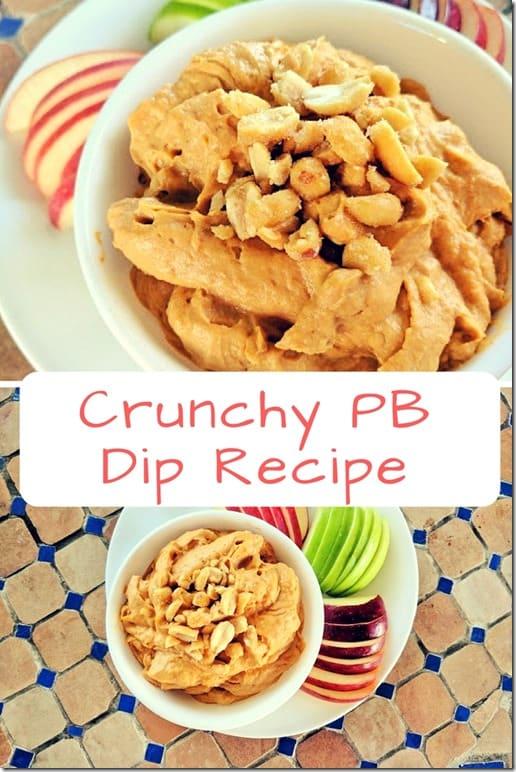 crunchy peanut butter dip recipe
