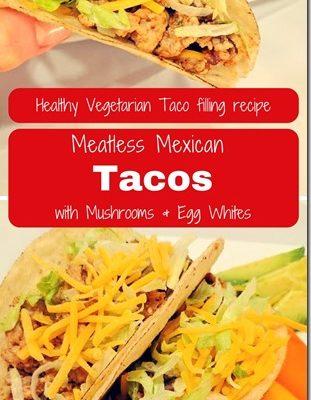 Spiced Mushroom and Egg White Tacos Recipe