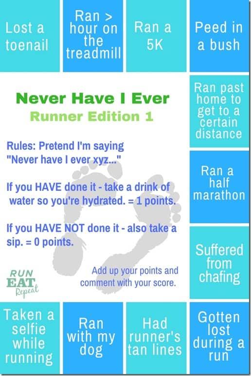 Runner Never Have I Ever
