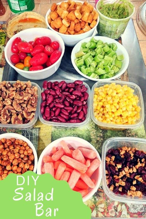 Make Your Own Salad Bar Run Eat Repeat