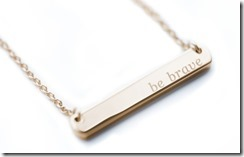 mother runner be brave bar necklace