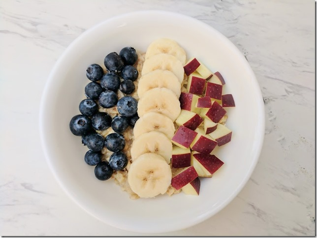 red white and blue oatmeal 3