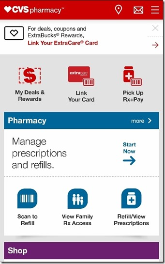 cvs mobile app minute clinic