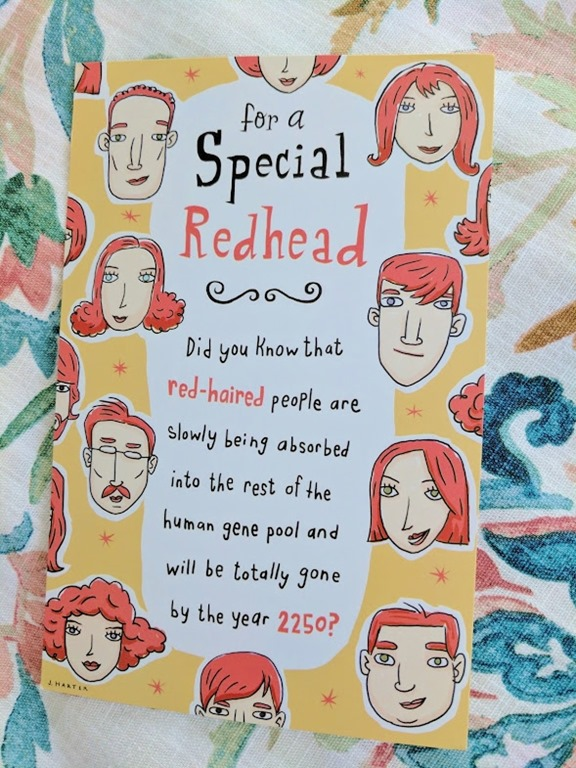 Redhead Birthday Card And It Rsquo S Prime Day Run Eat Repeat