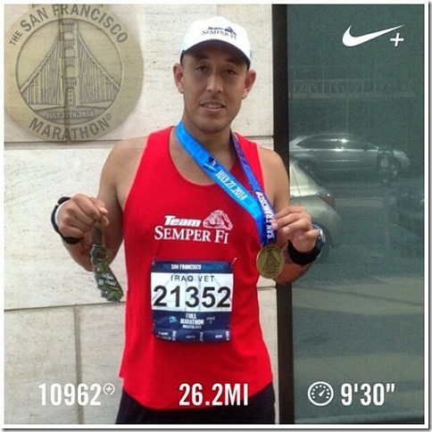 Marine Marathon Runner Juan Hernadez 8