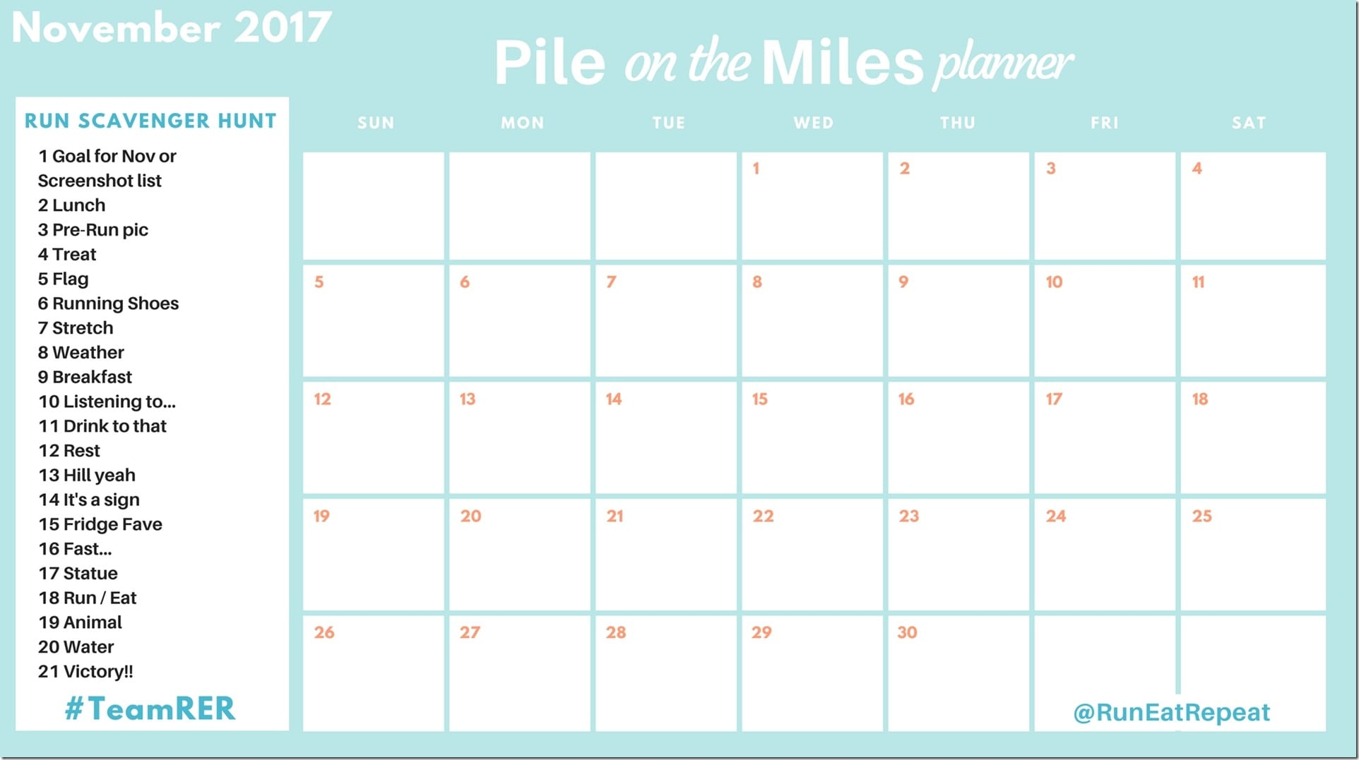 Pile on the Miles planner