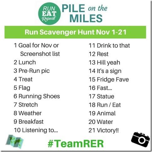 Instagram Run Scavenger Hunt