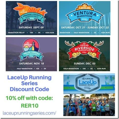 LaceUp Running Series California race discount code