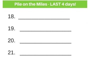 Pile on the Miles 2017–Day 18 - Podcast 45