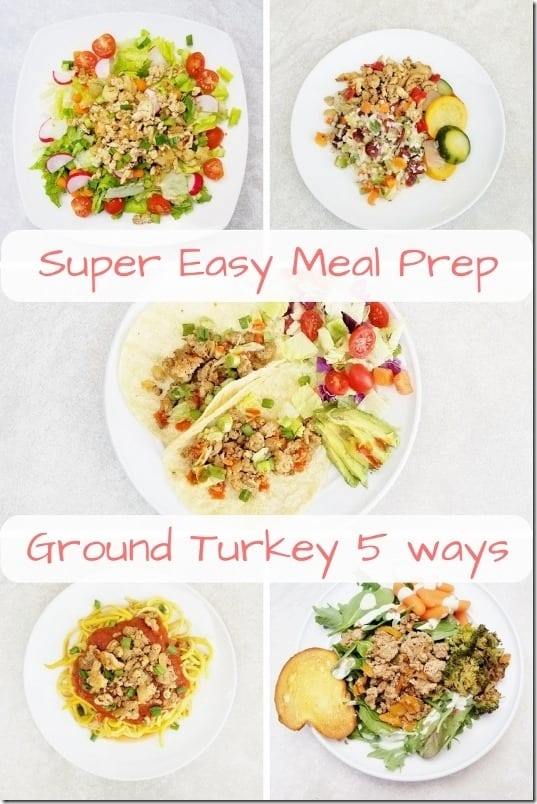 Super Easy Meal Prep with ground turkey (533x800)
