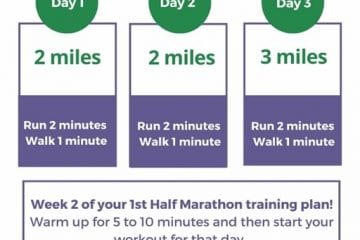 Half Marathon Training Week 2