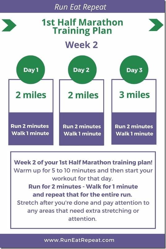 1st half marathon plan week 2 - June 2018 (1) (533x800)