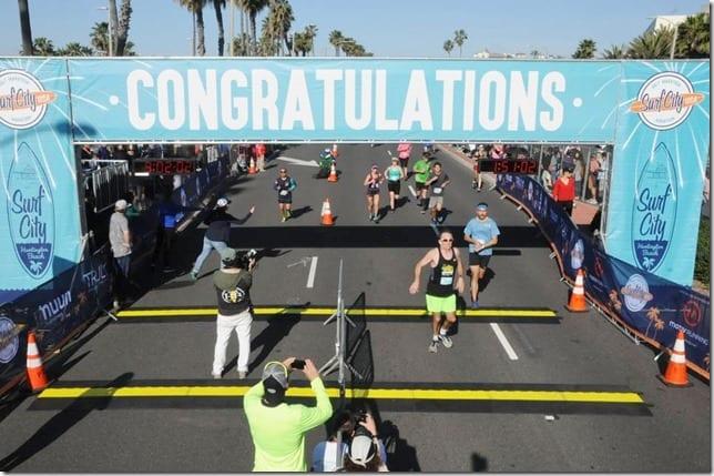 first half marathon finish