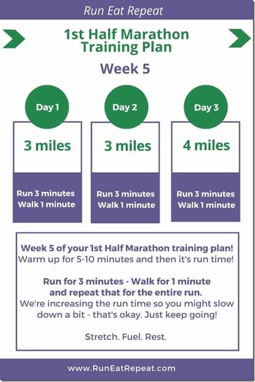 Half Marathon Training Questions?week 5 - Run Eat Repeat