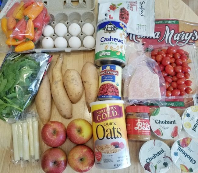 grocery list meal plan for runners
