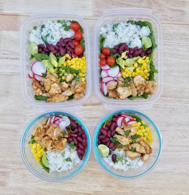 meal prep for busy runners menu