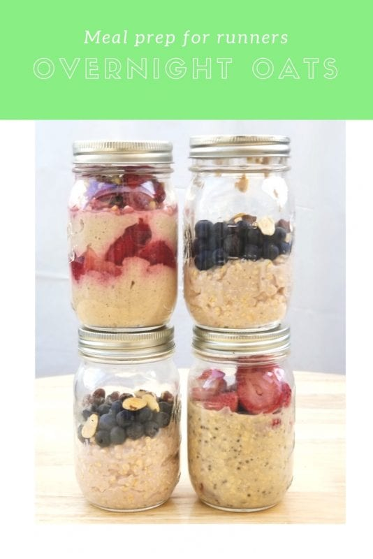 meal prep for runners overnight oats