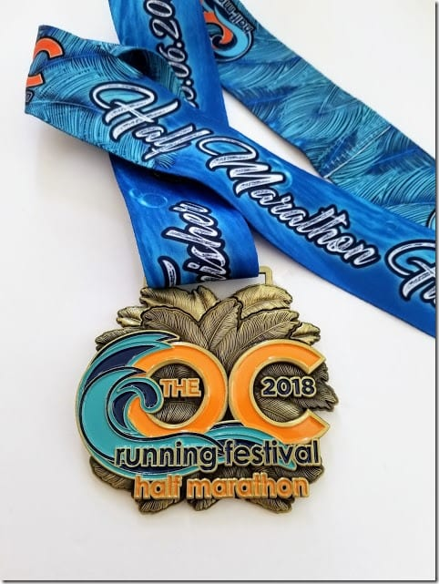 oc marathon half marathon medal