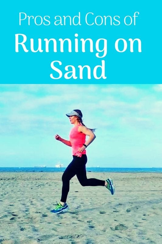 running on the sand