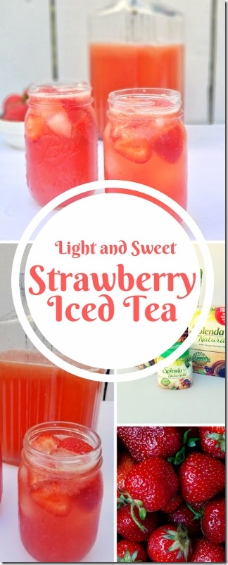 Light and Sweet Strawberry Iced Tea Recipe with stevia Splenda (320x800)