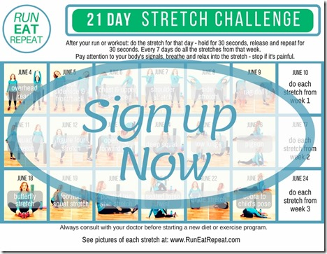Run Eat Repeat 21 Day Stretch sign up