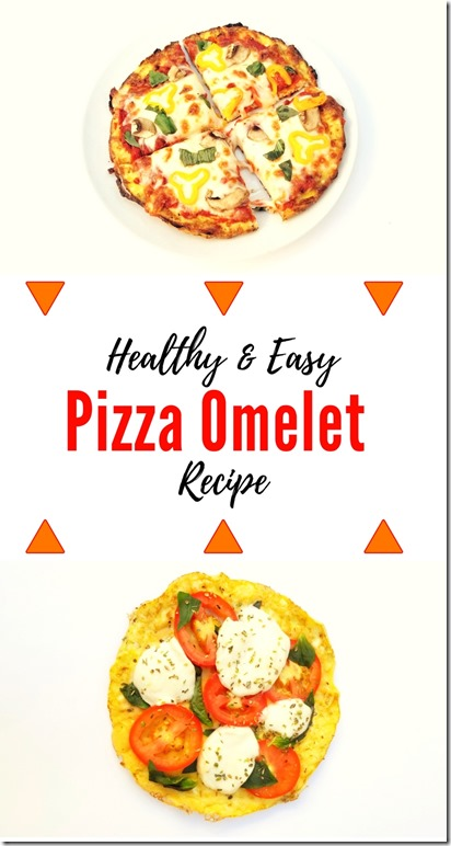 Healthy and easy Pizza Omelet Recipe with egg crust (1)