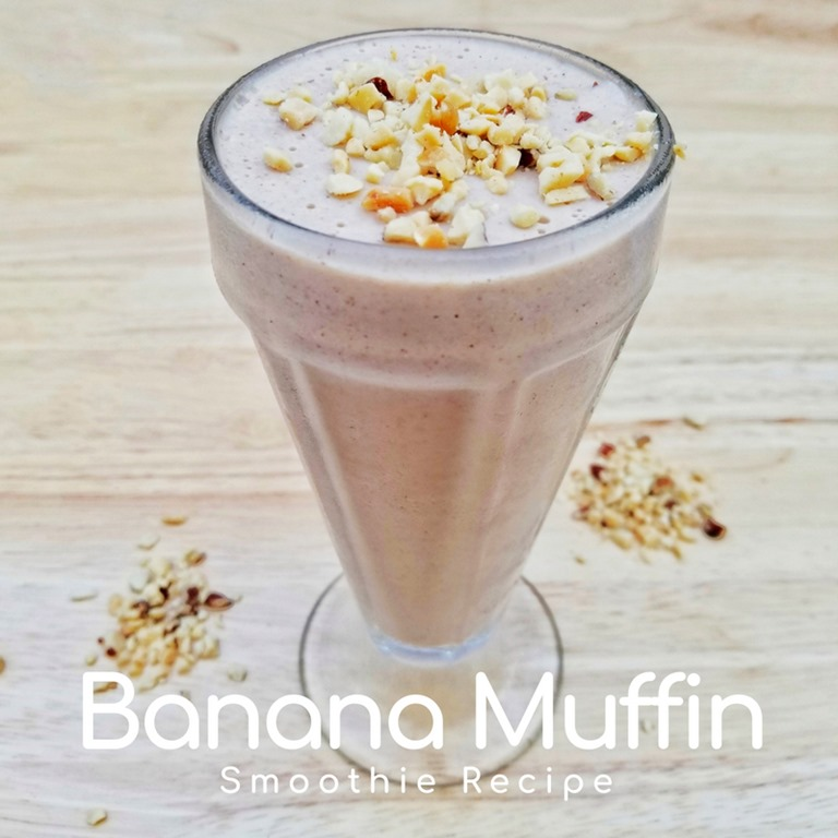 Banana Nut Smoothie Recipe with yogurt