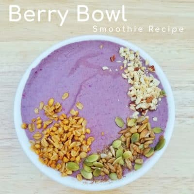Berry Bowl Smoothie Recipe with yogurt