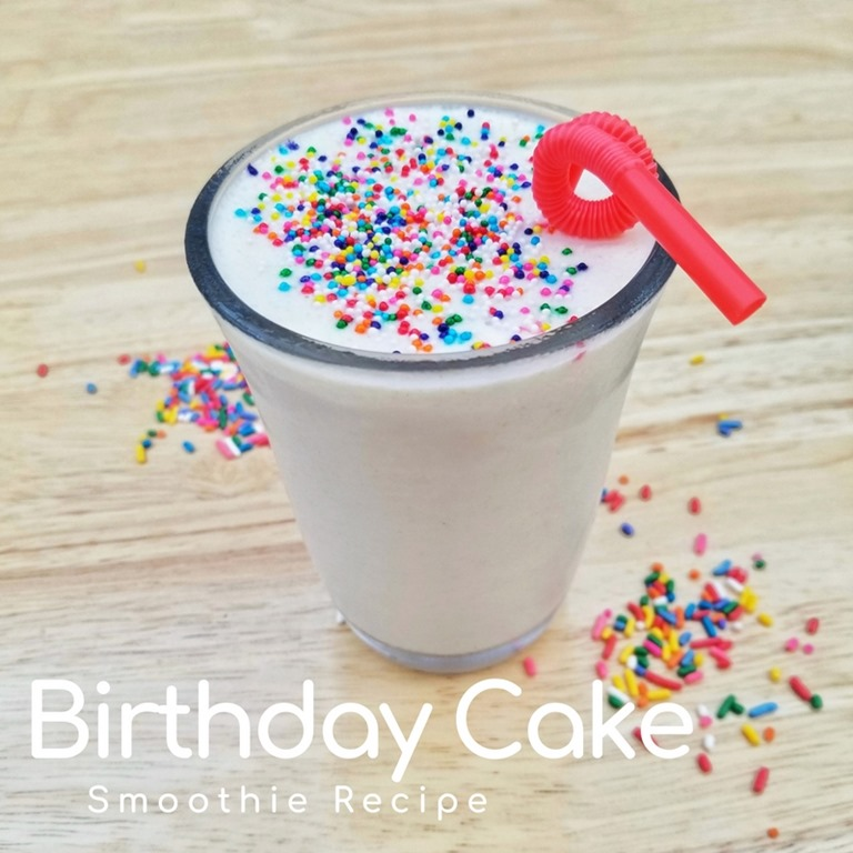 The Bananas Make It Sweet And Yogurt Adds Creaminess Protein To Keep You Satisfied Birthday Cake Smoothie Recipe