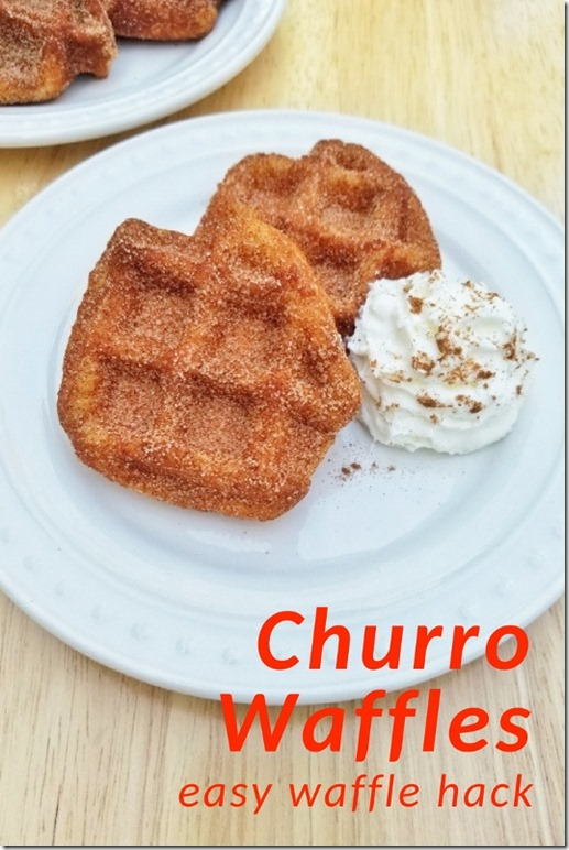 Churro Waffles Recipe waffle maker hack (534x800)