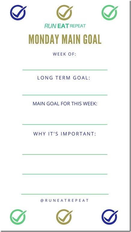 Monday Main Goal