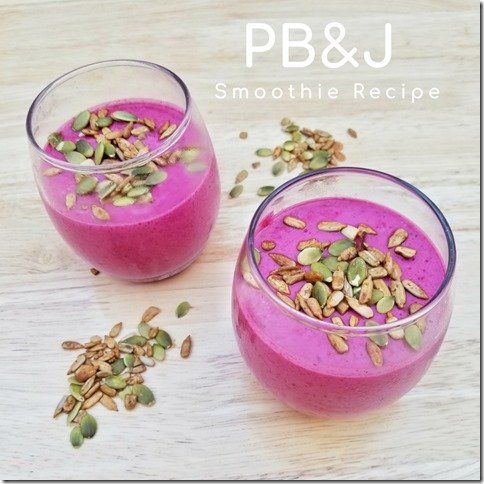 PB and J Smoothie Recipe with yogurt (800x800)