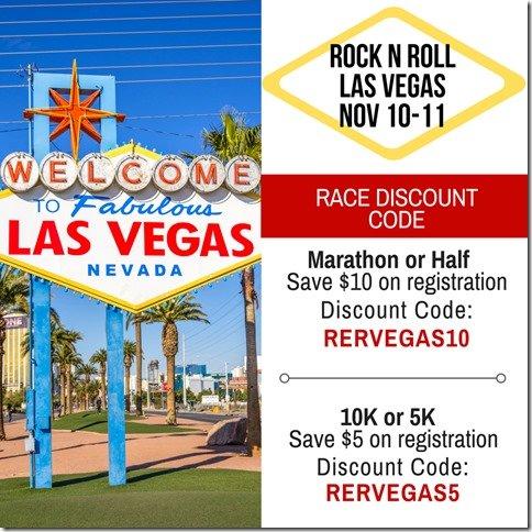 Rock n Roll Las Vegas marathon half marathon discount code