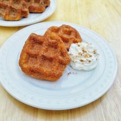 Churro Waffles Recipe–easy waffle maker hack