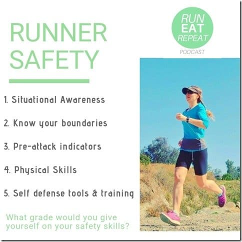 5 runner safety tips life saving reminders for runners, joggers or walkers podcast (800x800)