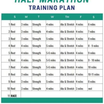 Half Marathon in 10 Weeks Training Plan and Race Packing List and Tips