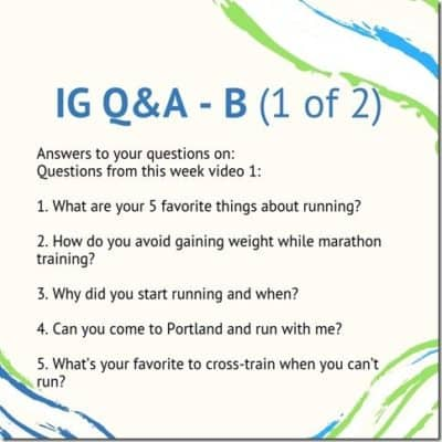 Answers to your Running Questions B videos