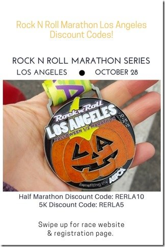 Rock N Roll LA Half Marathon 5k Discount Code
