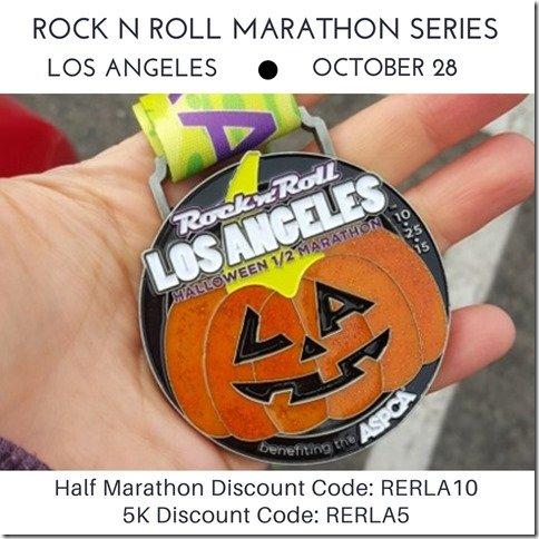Rock n Roll Los Angeles discount code half marathon 5K