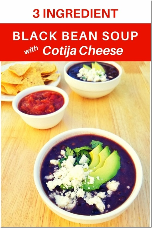 3 ingredient black bean soup recipe and cotija cheese (534x800)
