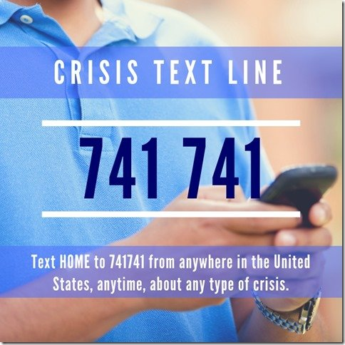 Crisis Text Line number (800x800)