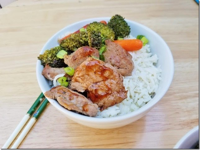 Healthy Pork Teriyaki Bowl Recipe w Farmer John 1 (769x577)