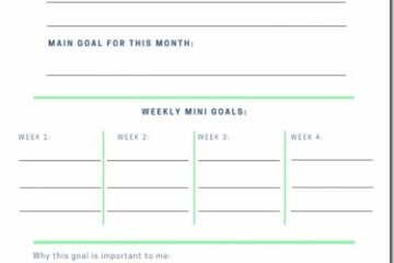 October Goals Planner–free printable monthly goal setting worksheet