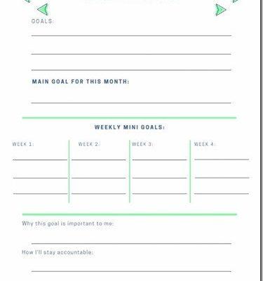 October Goals Planner–free printable monthly goal setting worksheet