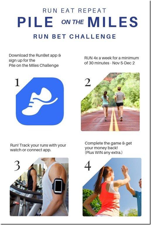 Pile on the miles challenge november Run Bet